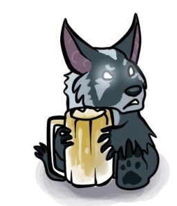 Irrelevant adorable feral with a beer