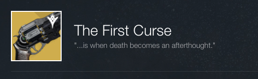 The First Curse