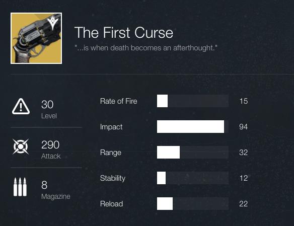 First Curse Stats